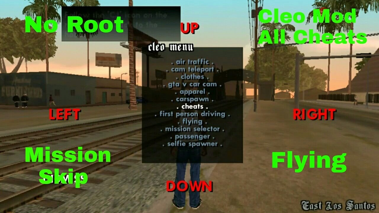 Cleo Mod,Cheats For Gta San Andreas Android Without Root